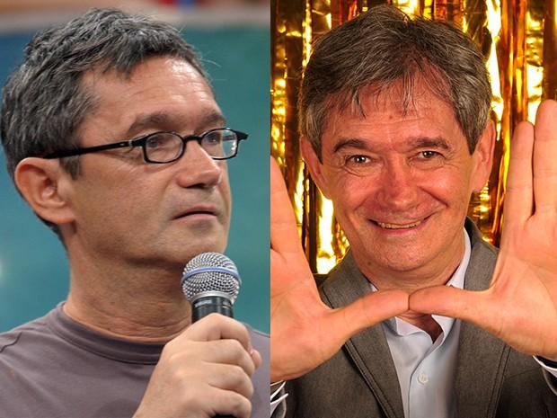 Pra não dizer que Serginho Groisman não mudou, os cabelos ficaram mais branquinhos, vai? (Foto: Gshow)