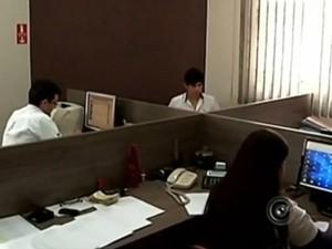 Ministério do Trabalho e Emprego, em Avaré (SP), está sem o serviço de homologações (Foto: Reprodução/ TV TEM)