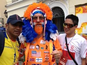 Oki Gerardi Hindricks foi atração no Pelourinho (Foto: Henrique Mendes / G1)