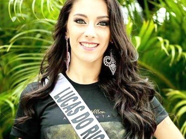 Miss Lucas do Rio Verde, Suelen Cortina, 23 anos,1,75m de altura e 58 kg (Foto: Divulgação)