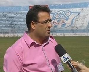 Ednaldo de Souza Costa, presidente do Marília (Foto: Reprodução/ TV TEM)