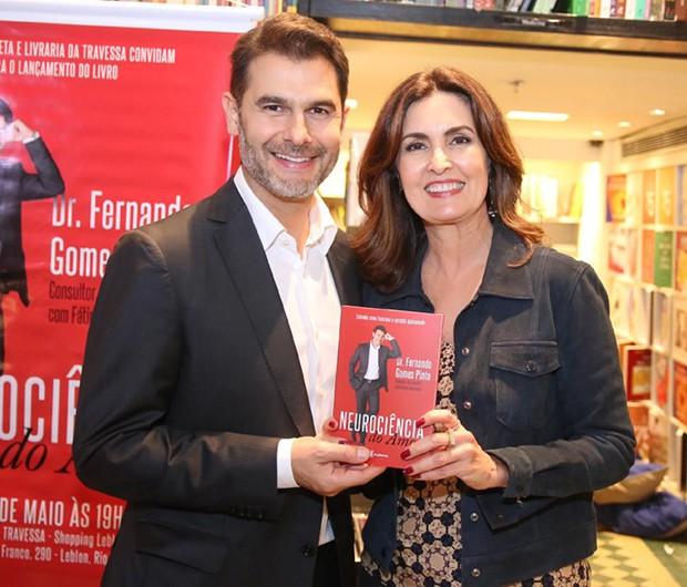 Dr Fernando Gomes Pinto e Fátima Bernardes (Foto: AgNews)