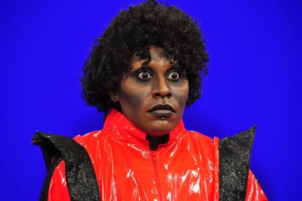 Neném se transforma em Michael Jackson (Foto: Divulgação)