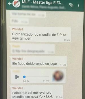 Wendell Lira - videogame (Foto: Reprodução / WhatsApp)