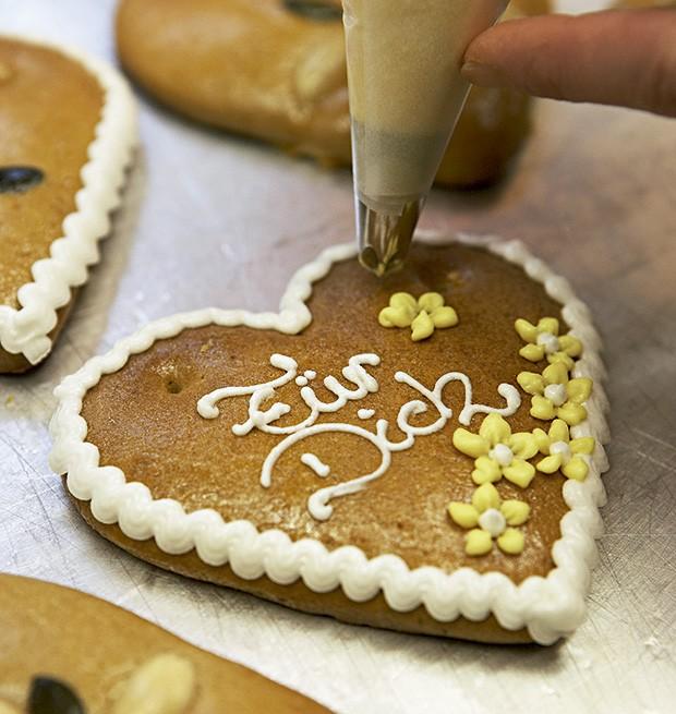 Biscoito decorado da Pirker, localizada ao lado da Catedral de Santo Estêvão (Foto: Françoise Terzian/Editora Globo)