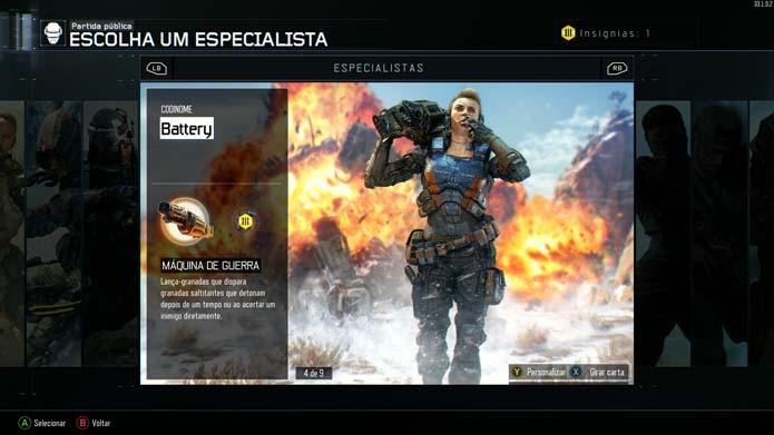 Especialidades são uma das novidades do game (Foto: Reprodução/Murilo Molina)