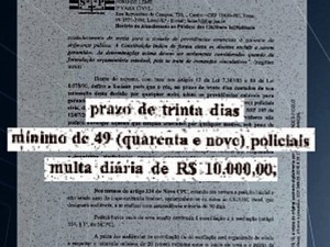 Justiça obrigou SSP a aumentar o número de policiais em Leme (Foto: Reprodução/EPTV)