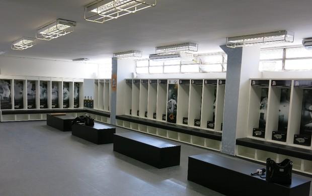 Novo vestiário Santos (Foto: Bruno Gutierrez)