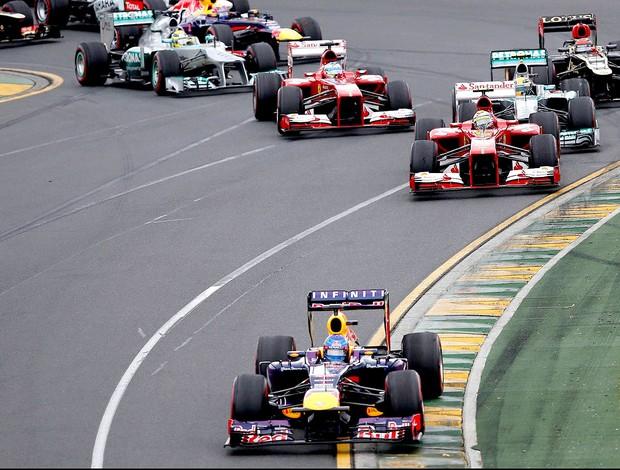 largada GP da Austrália (Foto: Agência Reuters)