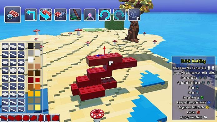 Também é possível construir com blocos Lego (Foto: Reprodução/Felipe Vinha)