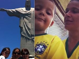 Tina diz que adora vir de férias para o Brasil (Foto: Arquivo pessoal)
