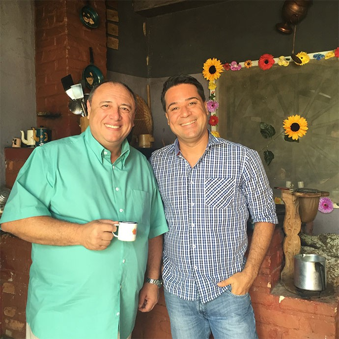 Pedro Bismark e Marcelo Honorato se encontraram em Juiz de Fora (Foto: Divulgação | Tô Indo)