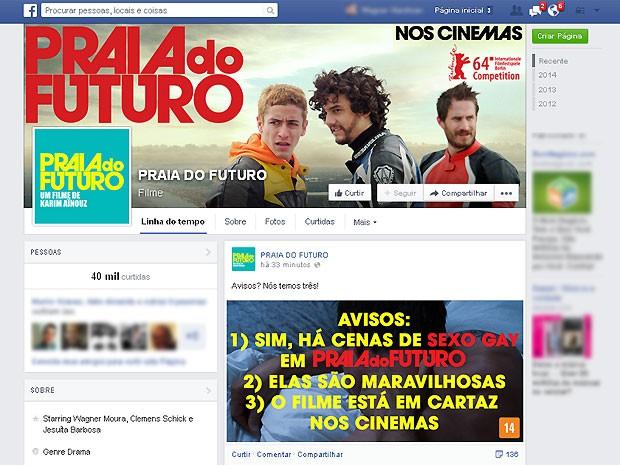 Representantes do filme usaram sua fanpage para rebater polêmica (Foto: Reprodução/Facebook.com)