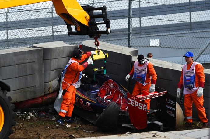 Acidente de Carlos Sainz Jr. Sochi (Foto: Getty)