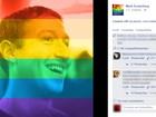 Mais de 26 milhões coloriram fotos no Facebook para apoiar casamento gay