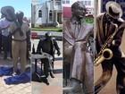 De Drummond a Tom, veja 'timaço' de estátuas em tamanho real pelo Rio