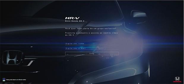 Honda HR-V surge em site e vídeo de divulgação (Foto: Reprodução)