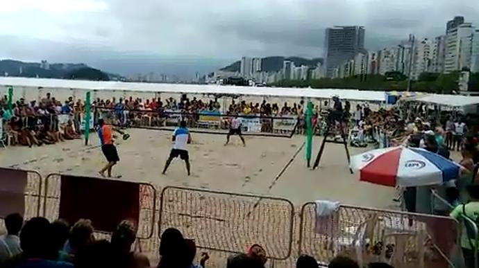 Ralf Abreu e Diogo Carneiro fazem final do beach tennis em Santos (Foto: Arquivo pessoal/Toni Vieira)