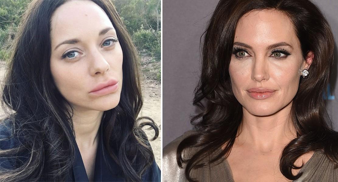 Marion e Angelina: semelhança é coincidência? (Foto: Reprodução/Instagram e Getty Images)