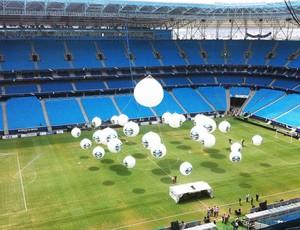 Esta é a vista que espera os torcedores no interior da Arena (Foto: Gabriel Cardoso/GLOBOESPORTE.COM)