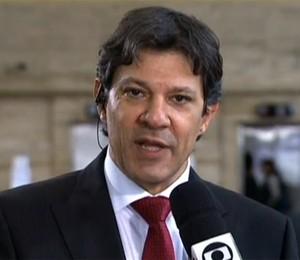 Fernando Haddad em entrevista ao programa SPTV nesta quarta-feira (26) (Foto: Reprodução/TV Globo)