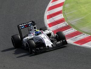 Felipe Massa no terceiro dia de testes da pré-temporada, em Barcelona (Foto: Getty Images)