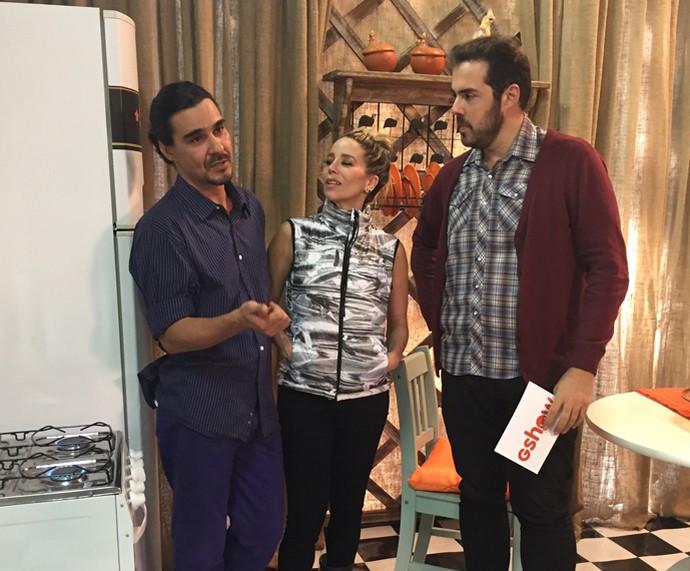 Papo de Ceylão com Dani Winits e André Gonçalves (Foto: Renata Viot/Gshow)