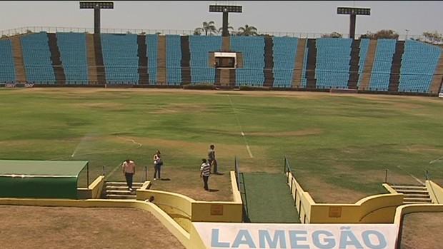 Federação sugere melhorias para o estádio Ipatingão (Foto: Reprodução InterTV)