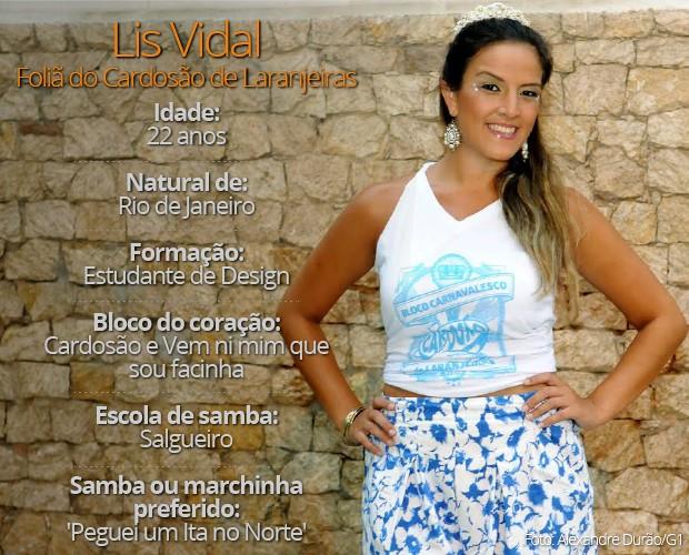 Lis Vidal é foliã do Cardosão de Laranjeiras. (Foto: Alexandre Durão/ G1)