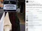 Pub coloca anúncio em poste e deixa agasalhos grátis: 'Pegue um destes'