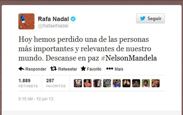 Nnadal Mandela Twitter (Foto: Reprodução / Twitter)