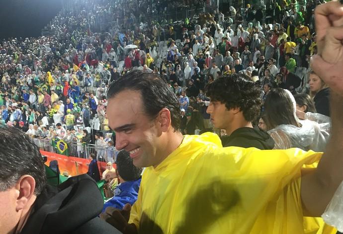 tadeu schmidt, vôlei de praia, final olímpica (Foto: Lucas Barros)
