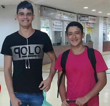 Luciano Silva e Carlos Gabriel, atletas de handebol do Acre (Foto: Davi Maia/Arquivo Pessoal)