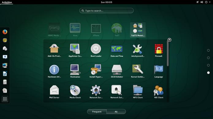 Área de trabalho do openSUSE, distribuição do Linux (Foto: Divulgação/openSUSE)
