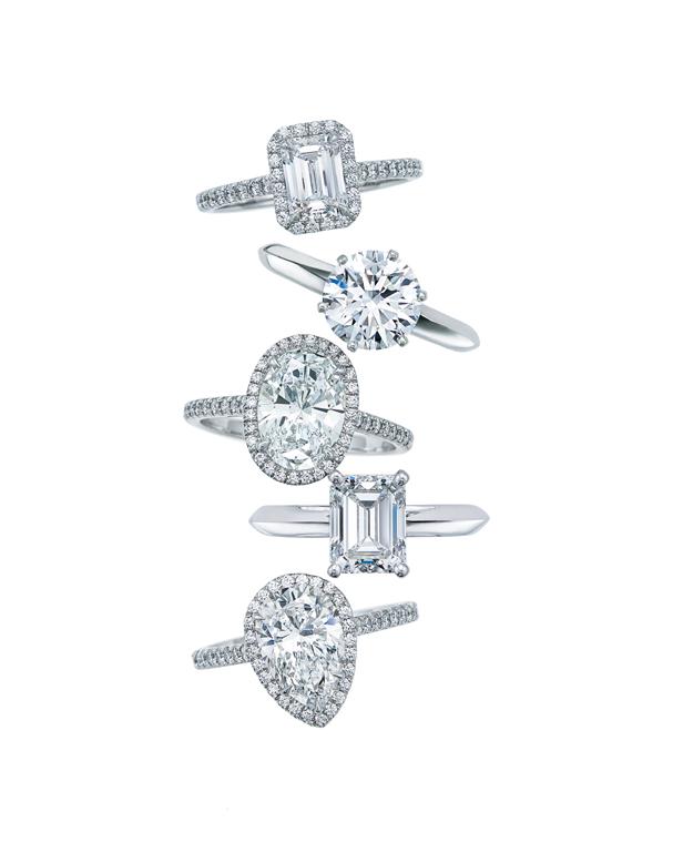 Anéis de noivado de diamante (Foto: Divulgação)