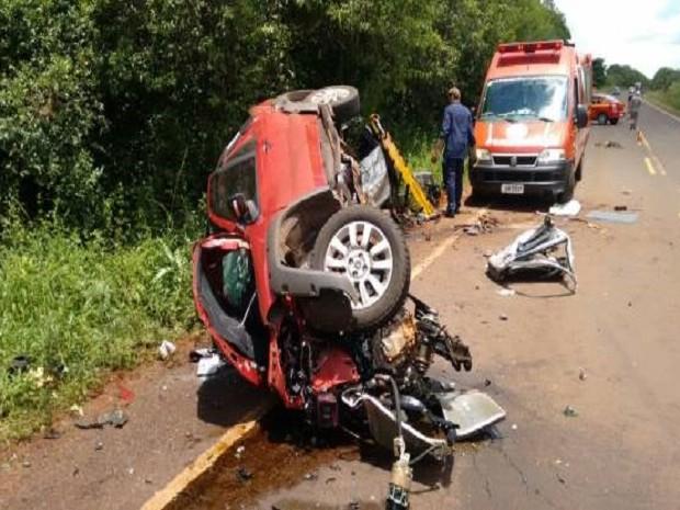 0c290a439e50 Acidente deixa três mortos no RS (Foto: Paulo Marques Notícias)