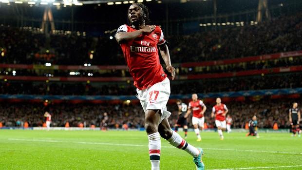 Gervinho, Arsenal x Olimpiakos (Foto: Agência Getty Images)