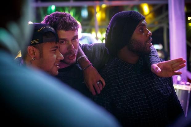 Neymar, Bruno Rezende e Rafael Zulu (Foto: Marcos Samerson/We love Photo!)