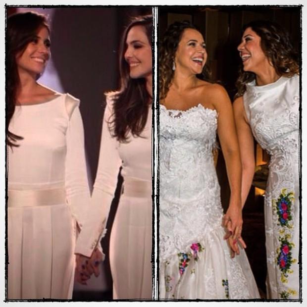 Cena de Em família e casamento de Daniela Mercury e Malu Verçosa (Foto: Instagram/ Reprodução)