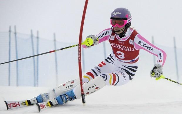 esqui alpino slalom Maria Hoefl-Riesch Copa do Mundo de Levi (Foto: Reuters)