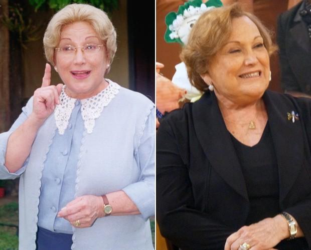 Nicette como Dona Benta e nos Esquenta! (Foto: Cedoc / Esquenta! / Cedoc)