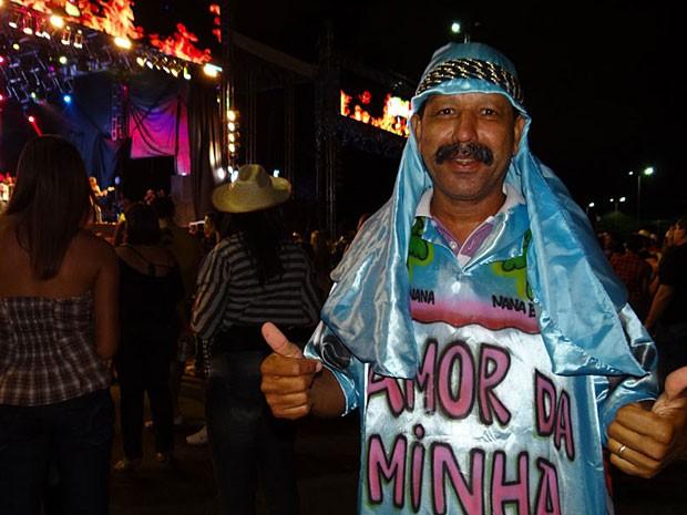 Fã do Chiclete com Banana (Foto: Adriana Noya / G1)