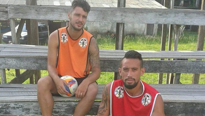 Dennis e Thayson se recuperam de lesões (Foto: Arquivo pessoal/ Alcindo Lima)