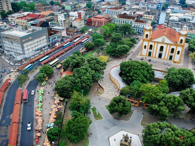 Centro da capital amazonense (Foto: Arquivo/ AVG/ TV Amazonas)