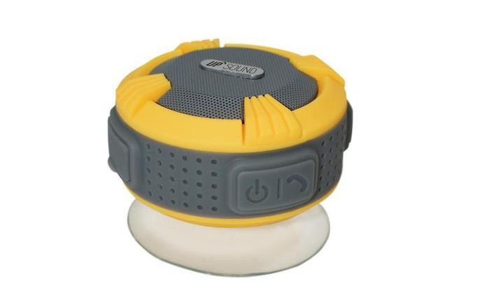 Caixa de som Upsound é à prova dágua e tem ventosa de fixação (Foto: Divulgação/Upsound)