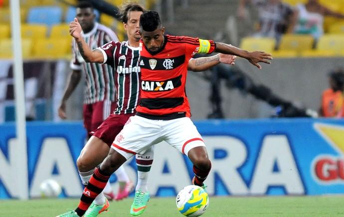 Diguinho fluminense leo moura flamengo (Foto: André Durão / Globoesporte.com)