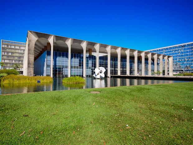 Palácio do Itamaraty - Brasília (DF) #Obras_Niemeyer (Foto: Marcelo Brandt/G1)