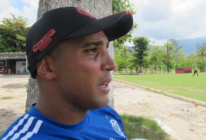 Deivid treino Flamengo (Foto: Ivan Raupp)
