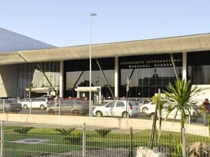 Obras do Aeroporto Marechal Rondon ainda não foram concluídas. (Foto: André Souza/ G1)