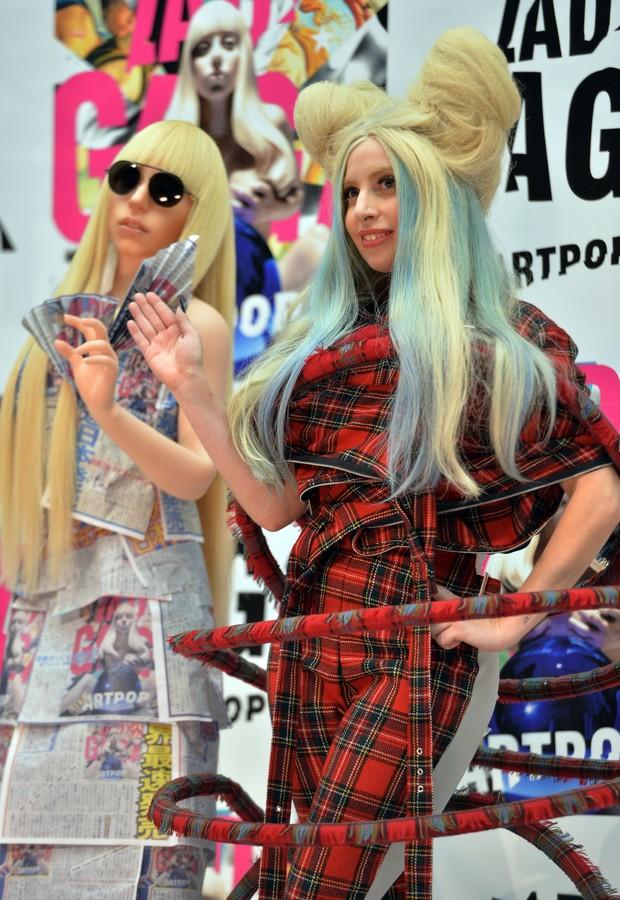 Lady Gaga no Japão (Foto: YOSHIKAZU TSUNO / AFP)